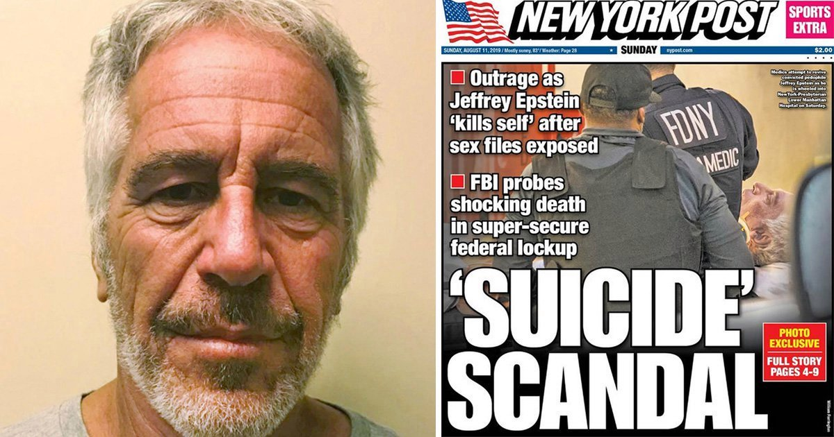 Epstein suicide scandal